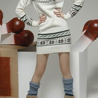 Deer Print Long Slim Sweater