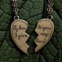 My Love Necklace Set by ragtrader on Etsy