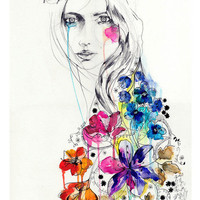 Lost // FASHION ILLUSTRATION // A5 print from original watercolor