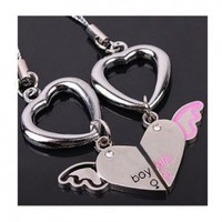 Romantic and Lovely Heart Pattern Design Key Chain For Lover China Wholesale - Sammydress.com