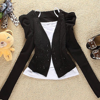 New Feel Bright Shivering Black Jackets Wholesale : Wholesaleclothing4u.com