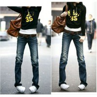 Slim Special Back-Pocket Old Style Frills Dark Blue Jeans For Women China Wholesale - Everbuying.com