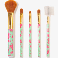 Rosette Print Cosmetic Brush Set | FOREVER 21 - 1017306065