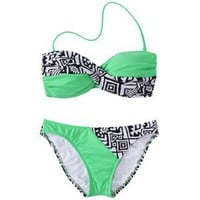 Junior's 2-Piece Swimsuit -Tribal Print