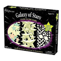 Amazon.com: University Games Great Explorations Galaxy of Stars Glow in the Dark Wall Decoration Kit: Toys & Games