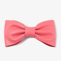 Faux Leather Bow Barrette | FOREVER 21 - 1030187935