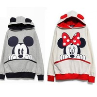 Minnie & Mickey Hooded Sweater from CherryKreations21