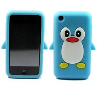 Amazon.com: 3d Penguin Silicone Soft Skin Case Cover for Apple Iphone 3g 3gs Sky Blue: Cell Phones & Accessories