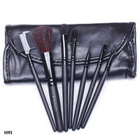 Hot sale 7 Pieces Makeup Brush Set Cosmetic Make Up Tool + Black Case new
