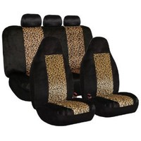 FH-FB126115 2 Tone Classic Leopard Car Seat Covers, Airbag compatible and Split Bench : Amazon.com : Automotive