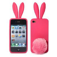 Bunny Rabito Rabbit Rubber Skin Case For iPhone 4 [4619] - US&amp;#36;3.22 - China Electronics Wholesale - FlyDolphin.com