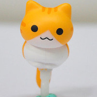 Niconico Nekomur Cat Earphone Jack Plug / Anti-dust Ear Cap Plug Stopper yellow