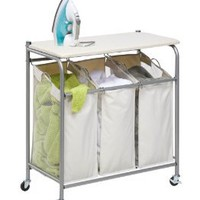 Amazon.com: Honey-Can-Do Rolling Ironing and Sorter Combo Laundry Center: Home & Kitchen