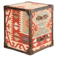 One Kings Lane - Furniture & More - Barreveld Kilim & Leather Side Table