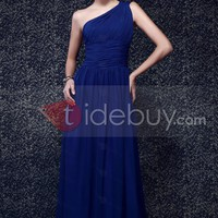 One shoulder Ruched Bodice and A line Skirt New Taline's Prom Dress