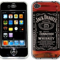 My Associates Store - Jack Daniels Bottle Handmade iPhone 4 4S Full Hard Plastic Case