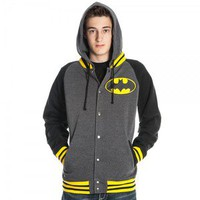 BATMAN Letterman Jacket Hoodie Sweatshirt S M L XL XXL NEW dc comics