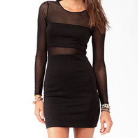 Mesh Panel Bodycon Dress | FOREVER 21 - 2025102507