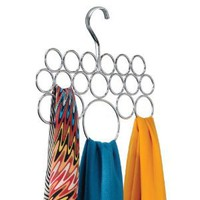 Amazon.com: InterDesign Axis Scarf Holder, Chrome: Home &amp; Kitchen