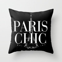 Paris Chic Vintage Eiffel Tower Throw Pillow by Rex Lambo | Society6