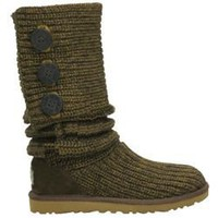 UGG Women&#x27;s Classic Cardy 5819 Moss Outlet UK