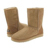 Chestnut Ugg Classic Men&#x27;s Short Boots Outlet UK
