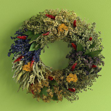 Organic Culinary Herb Wreath - VivaTerra