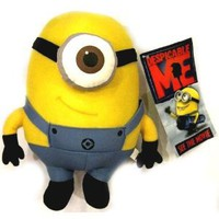 Amazon.com: Despicable Me Deluxe 8-Inch Plush Figure Minion Stewart: Toys & Games