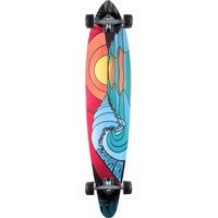 San Clemente Stained Glass 46 Pin Tail Longboard Complete
