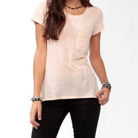 Relaxed Slub Knit Tee
