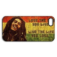 Amazon.com: Bob Marley Quotes Vintage case for Iphone 5 / iphone 5 case hard cases / Iphone 5 Design / printed on its back face and its curve side: Everything Else