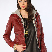 The Jealous Lover Jacket in Burgundy
