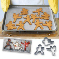 Ninja Bread Men Cookie Cutters