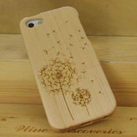 Wooden Dandelion iPhone 5 Cases