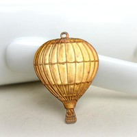 Hot Air Balloon Pendant,Gold Patina.. on Luulla