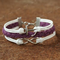Infinity bracelet with anchor -bracelet for your GF.Christmas for friends