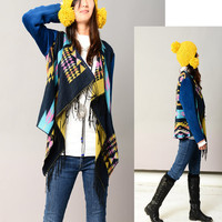 Kachina doll  cashmere shawl jacket P1206 by idea2lifestyle