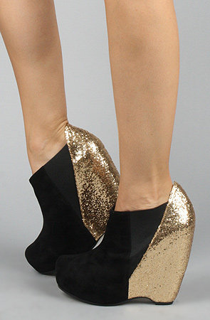 The Exclusive Narcisco Shoe in Black Suede and Gold Glitter : Senso Diffusion : Karmaloop.com - Global Concrete Culture