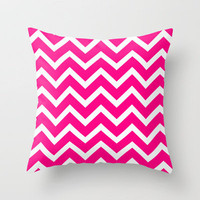 Magenta Chevron Zigzag Pattern Throw Pillow by Rex Lambo | Society6