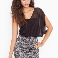 Chiffon Drape Dress in Clothes Dresses at Nasty Gal