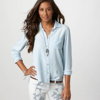 AE Denim Girlfriend Shirt | American Eagle Outfitters