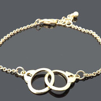 handcuffs bracelet -Gold bracelet- simple everyday jewelry