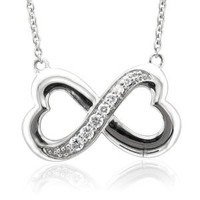 Amazon.com: Sterling Silver Infinity Heart 7 Stone Diamond Pendant Necklace (GH, I1-I2, 0.25 carat): Diamond Delight: Jewelry