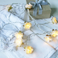 Wild Roses Fairy Lights