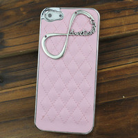 "Light Pink Hard Case Cover With One Direction ""Directioner"" Infinity for Apple iPhone5 Case, iPhone 5 Cover,iPhone 5 Case, iPhone 5g"