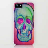 Watercolor skull/Blue iPhone Case by LMMM | Society6