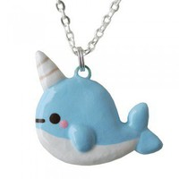 ShanaLogic.com - 100% Handmade  Independent Design! Kawaii Narwhal Necklace - Jewelry - Girls