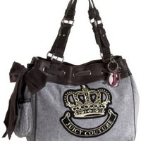 Juicy Couture Fashion Velour Daydreamer Tote,Heather Cozy,one size