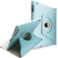 Amazon.com: 360 Degrees Rotating Stand (Blue) Leather Case for Apple iPad 2 2nd generation: Computers & Accessories