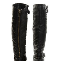 Wild Diva Tosca 01A Black Knee High Riding Boots